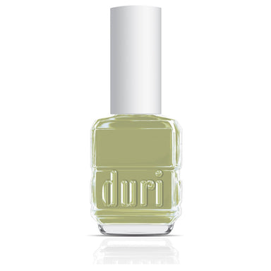 Duri Cosmetics 720 Barefoot. Sage green nail polish color.