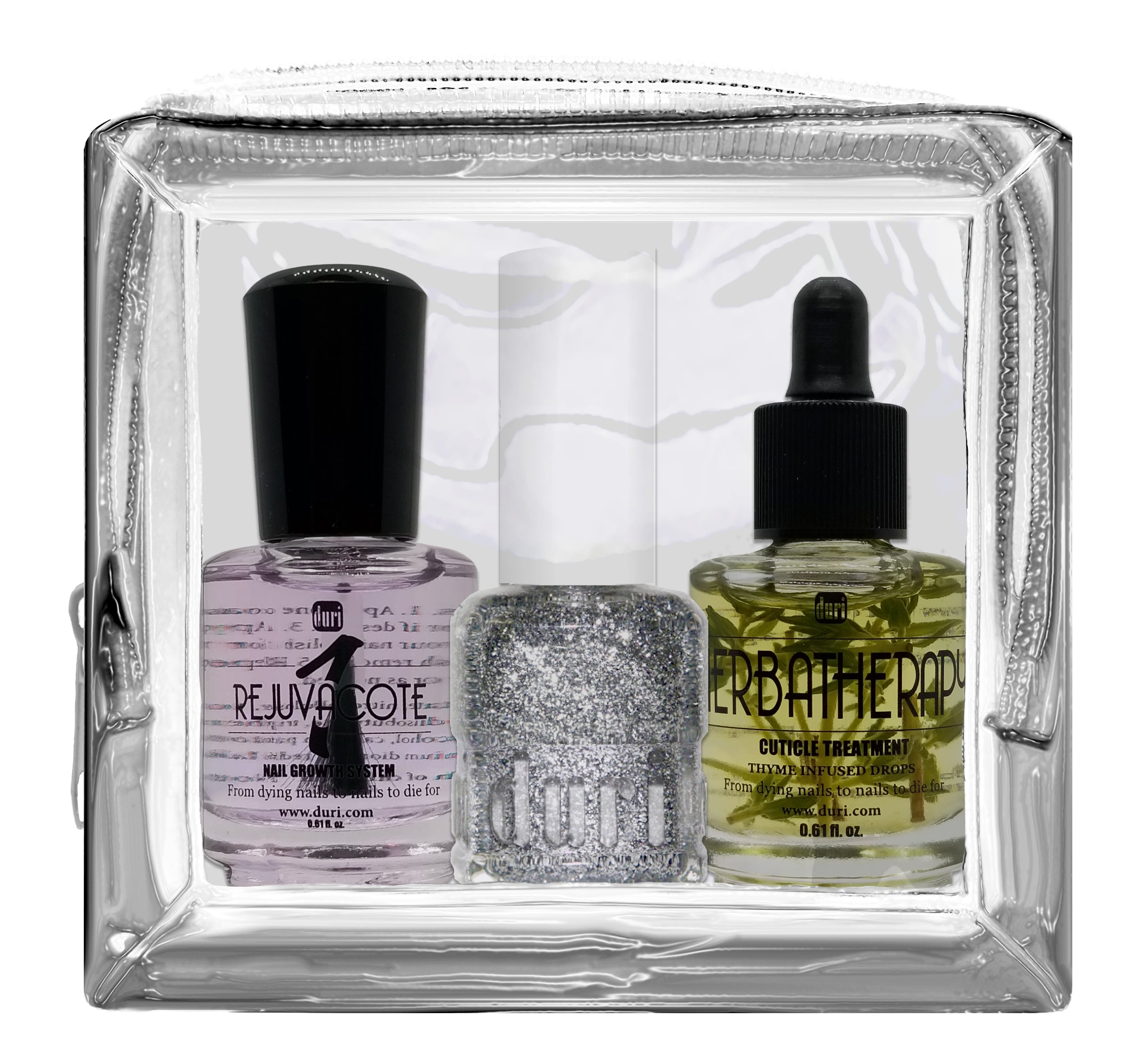 Silver Holiday Polish & Nail Strengthening Travel Set