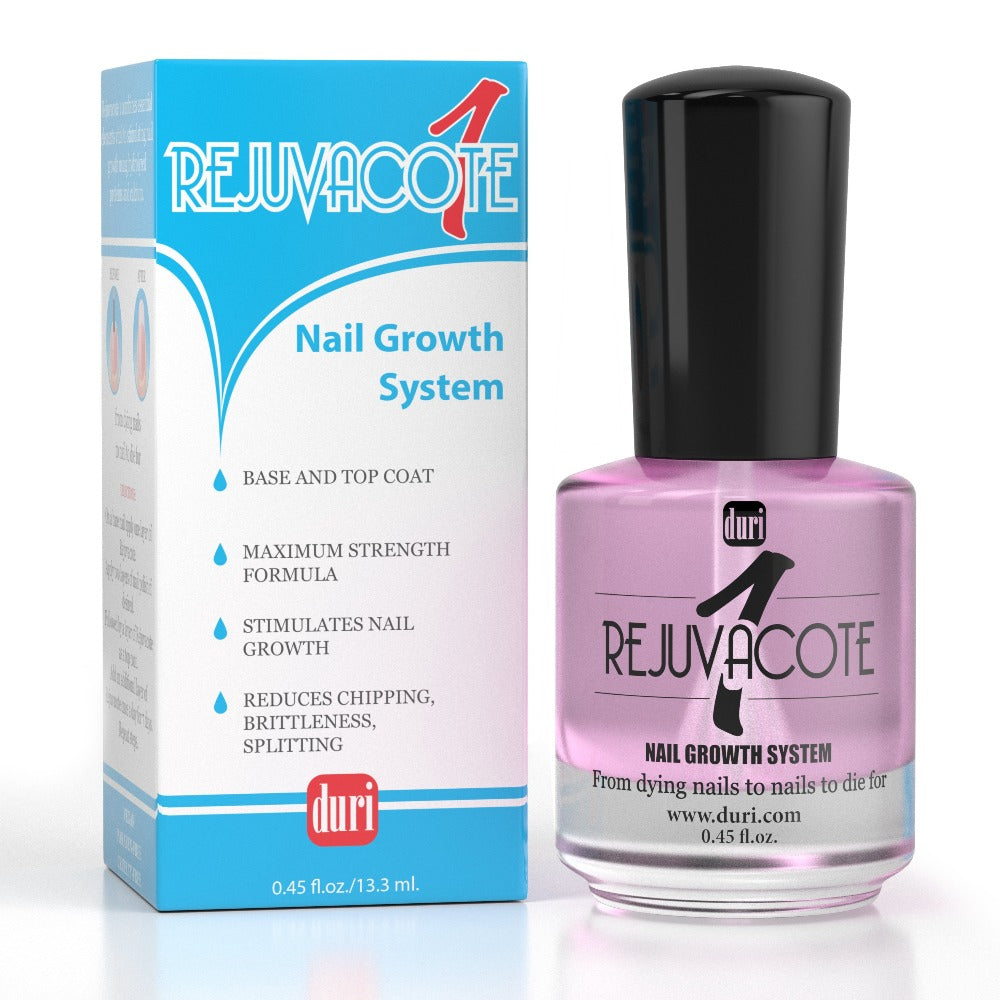 Rejuvacote 1 Original Maximum Strength Nail Growth System, Base and Top Coat, 12 Pieces Display