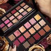 Huda Beauty Rose Gold Eyeshadow Palette (18 shades in 1 kit) with mirror.