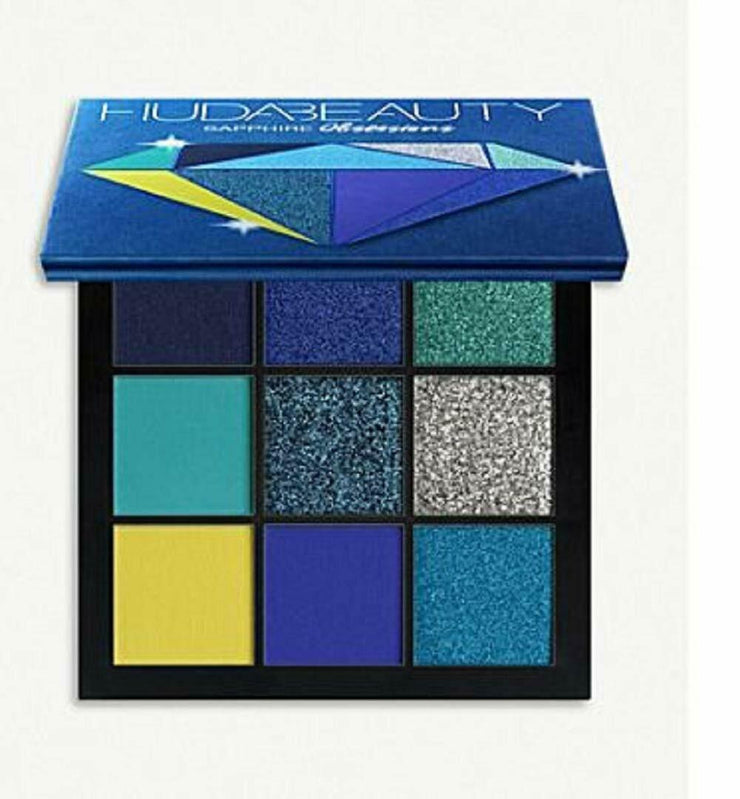 Huda Beauty Sapphire Obsessions Eyeshadow Palette, LIMITED EDITION, 9 Shades