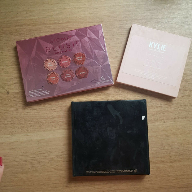 Makeup Bundle palette: Sigma Beauty, Tarte Cosmetics,Kylie Jenner. Swatched