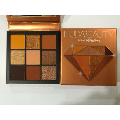Huda Beauty Topaz Obsessions Eyeshadow Palette, LIMITED EDITION, 9 Shades