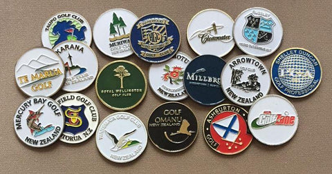 Die Struck Ball Markers - Custom Logo