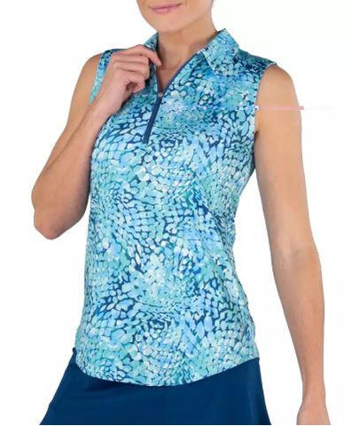 Jofit Printed Sleeveless Polo