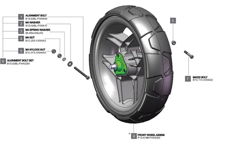 Rovic RV1S - Front Wheel Complete V2