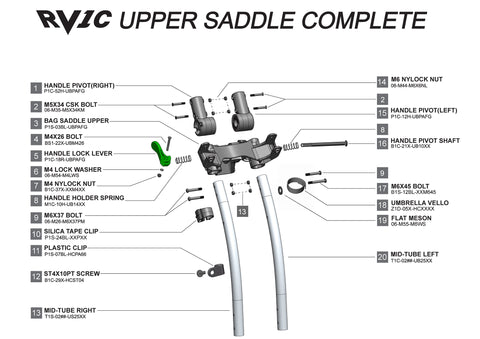 Rovic RV1C - Upper Saddle Complete V3