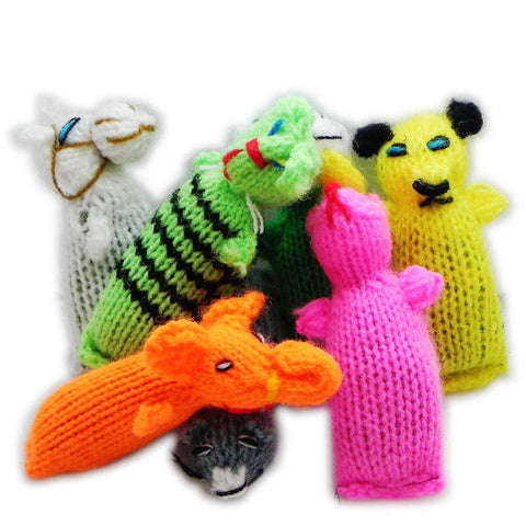 Chilly Dog Barn Yarn Hand Knit Wool Cat Toy with Catnip