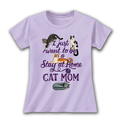 Earth Sun Moon Tee, Stay At Home Cat Mom