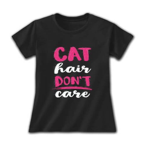 Earth Sun Moon Tee, Cat Hair Don't Care Ladies T
