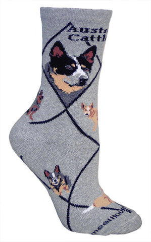 Wheel House Designs Socks, Australian Cattle Dog, Socks