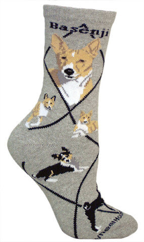 Wheel House Designs Socks, Basenji, Socks