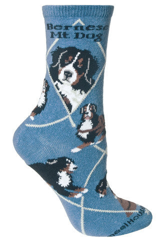 Wheel House Designs Socks, Bernese Mountain Dog, Socks
