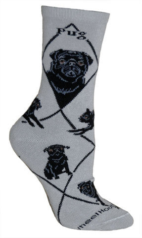 Wheel House Designs Socks, Pug, Socks