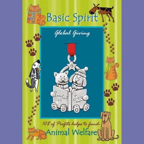 Basic Spirit Handcrafted Pewter Giving Ornament