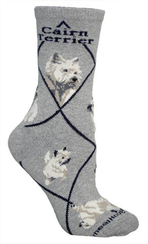 Wheel House Designs Socks, Cairn Terrier, Socks