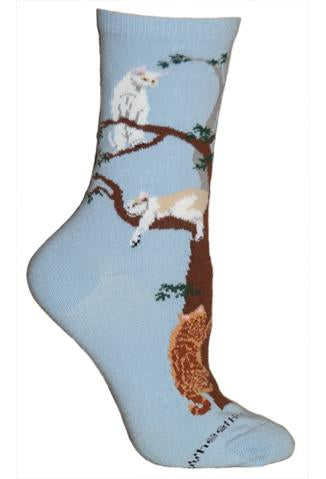 Wheel House Designs Socks, Cats in Tree