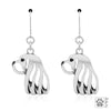 Dazzling Paws Jewelry Sterling Silver Breed Earrings