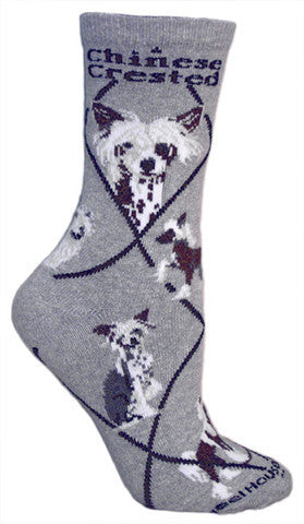 Wheel House Designs Socks, Chinese Crested, Socks