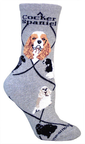 Wheel House Designs Socks, Cocker Spaniel, Socks