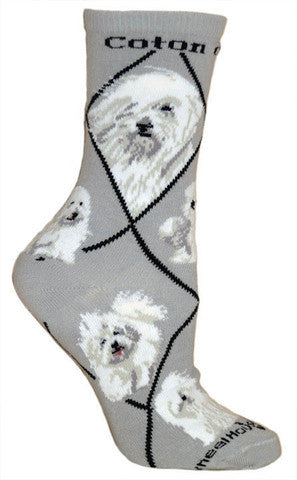 Wheel House Designs Socks, Coton de Tulear, Socks