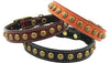 Auburn Leathercrafters Heirloom Star Leather Dog Collar, Leashes and Collars