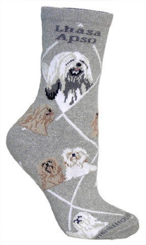 Wheel House Designs Socks, Lhasa Apso, Socks