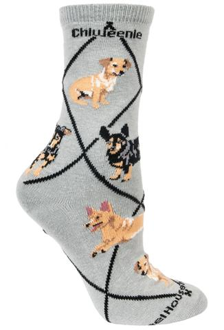 Wheel House Designs Socks, Chiweenie