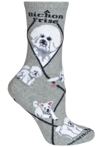 Wheel House Designs Socks, Bichon Frise