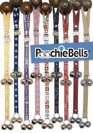 Poochie Bells Classic Dog Potty Doorbell, Dog Training Aid
