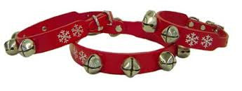 Auburn Leathercrafters Holiday Jingle Bells Dog Collar