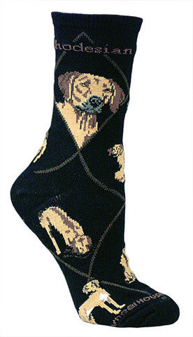 Wheel House Designs Socks, Rhodesian Ridgeback, Socks
