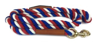 Auburn Leathercrafters Natural Cotton and Leather Snap Leash
