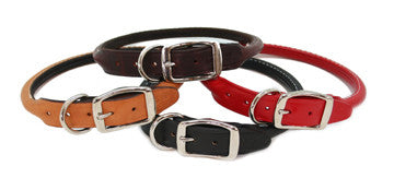 Auburn Leathercrafters Rolled Leather Dog Collar, Leashes and Collars