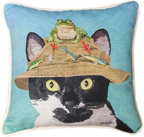 Manual Woodworkers & Weavers Decorative Canvas Pillow, Cats