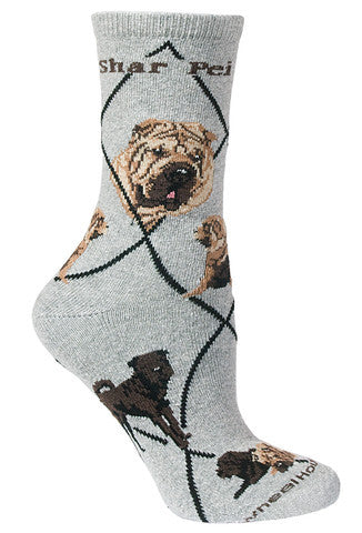 Wheel House Designs Socks, Shar Pei, Socks