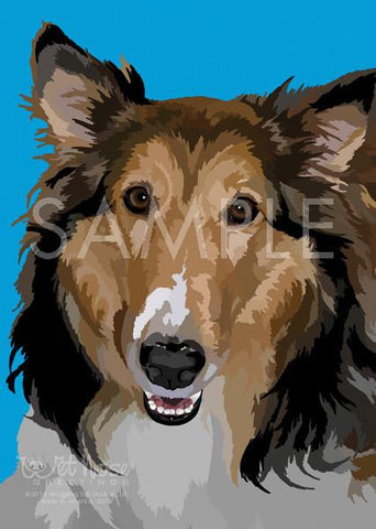 Wet Nose Greetings Card, 5