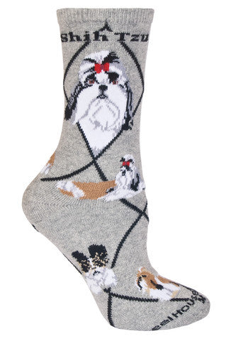 Wheel House Designs Socks, Shih Tzu, Socks