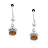 Dazzling Paws Jewelry Sterling Silver Semi-Precious Stone Paw Earrings