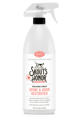 Skout's Honor Professional Strength, All-Natural Cat Urine and Odor Destroyer