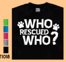 Imagine This Who Rescued Who? Tee Shirt