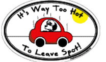 Imagine This Car Magnet, Dog Lovers Oval & Circle Designs