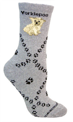 Wheel House Designs Socks, Yorkiepoo, Socks