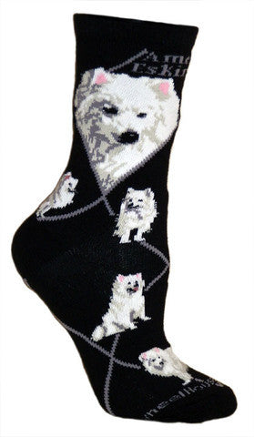 Wheel House Designs Socks, American Eskimo Dog, Socks