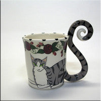 April Gadler Coffee Cat Mug, 12 oz., Mugs
