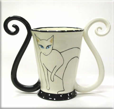April Gadler Coffee Cat Vase, Housewares