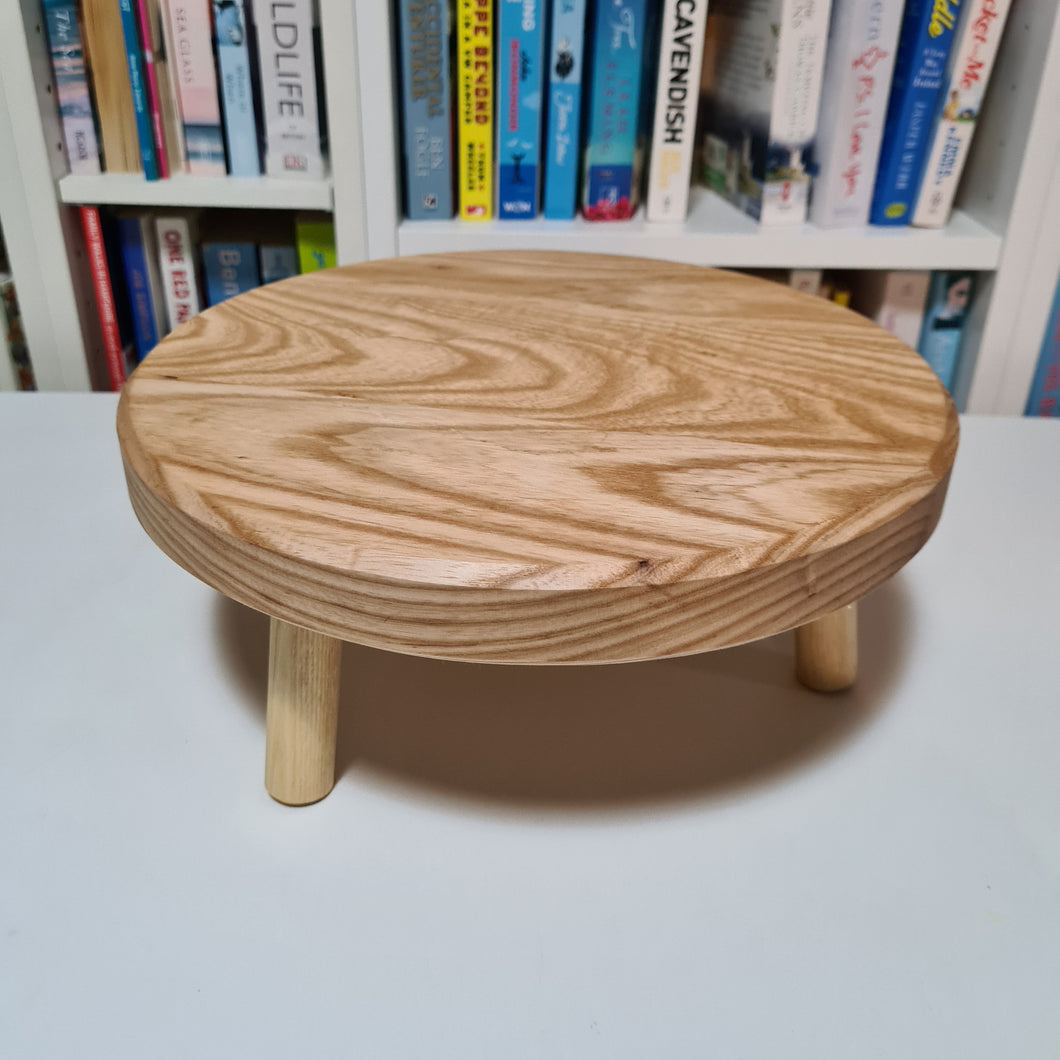 Solid Ash Low Plant Stand 28cm