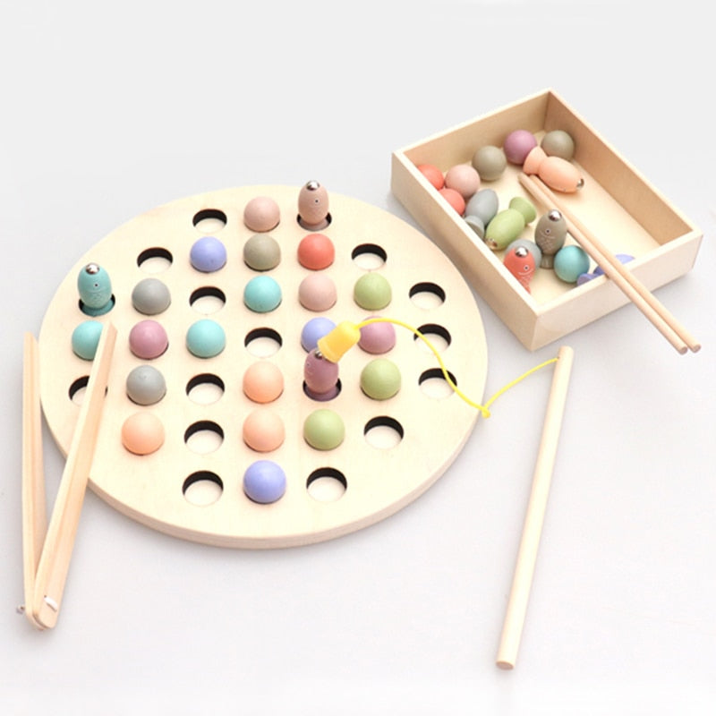 Arfast  - Montessori Wooden Fishing Game for Kids