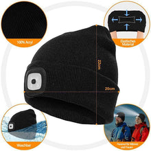 Load image into Gallery viewer, Unisex Winter Warm Knitted Hat Head Torch Cap - Cicoom