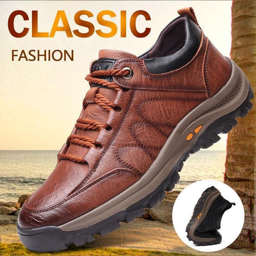 New Fashion Men's Casual  Outdoor Leather Shoes - Cicoom